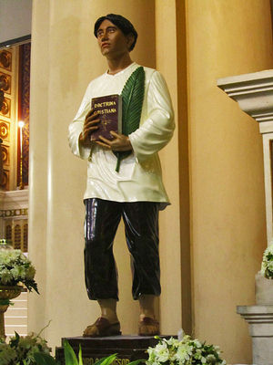Saint Pedro Calungsod's image, which was brought to Rome for the canonization last year, will be brought to various places in Cebu and Naval, Leyte. The image will stay at the Cebu Metropolitan Cathedral on November 29.