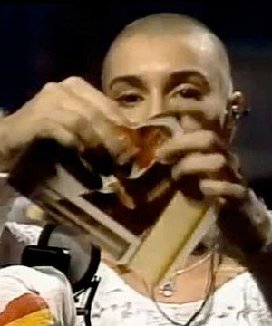 Sinead O'Connor was at one time loudly booed by audiences for tearing up a picture of the Pope John Paul II on the late-night TV show 'Saturday Night Live' in 1992.