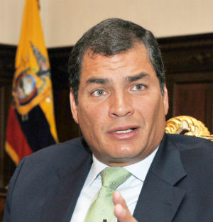 'What Plato wrote in his [Socratic] dialogues more than 2,000 years ago is true. 'Justice is nothing other than the advantage of the stronger..'' Ecuadoran President Rafael Correa said.