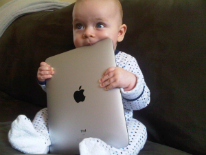 Babies are using iPads before they can form complete sentences.