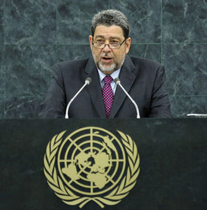 Prime Minister Ralph Gonsalves, of Saint Vincent and the Grenadines, said before the UN General Assembly, that European nations must pay for slavery.