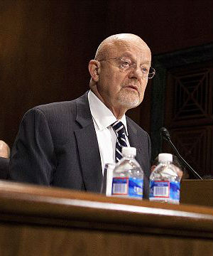 Alexander, along with Director of National Intelligence James Clapper, pictured, testified at a Senate Judiciary Committee hearing.