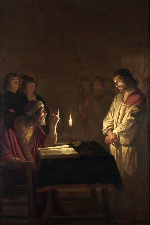 Painting, Christ Before the High Priest. Gerrit van Honthorst (1590-1656) I thought to myself, 'how could a man get to this point? How could he fail to see the Light of the World before him?' I sensed the Lord prompting a response in my heart as I looked more deeply into the eyes of the High Priest (whom I thought was a Pharisee) and the eyes of Jesus as depicted in that painting. The response, 'You have become that man'.