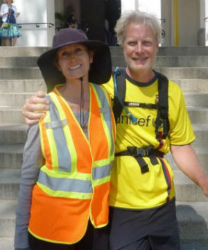 Edie Littlefield Sundby from California, is battling stage-4 gallbladder cancer. She is seen here with her husband Dale.
