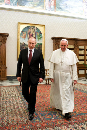Pope Francis and President Putin