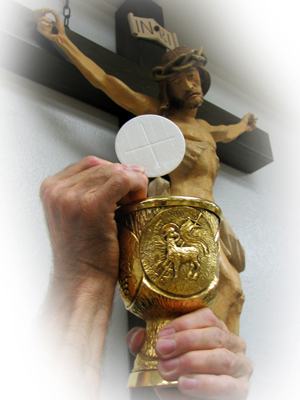 During Eucharistic adoration, it is not only we who behold Christ, but it is also He who beholds us.