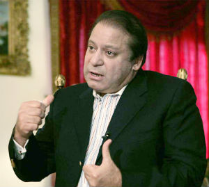 'The international community, keeping in view the determination and unprecedented sacrifices of the people of Pakistan, is bound to support these initiatives and provide every possible backing to bring peace,' Prime Minister Sharif said.