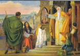 Image of The Feast of the Presentation of Mary is celebrated in both the Eastern and Western Churches. It recalls the day in the life of the Jewish girl named Mary (Maryam) when her parents, Joachim and Anne, presented her to the Lord in the temple and dedicated her life to Him.