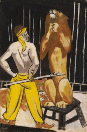 Among the works discovered was German artist Max Beckman's 'Lion Tamer,' a 1930 gouache and pastel work on paper.