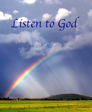 God speaks to us, we just have to Listen.