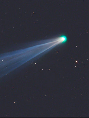 ISON is smaller than a typical comet at about three-quarters of a mile across.