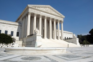 The outside of the United States Supreme Court in Washington,DC