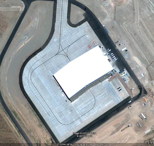 The secret hangar at Area 51 which is likely the home of the RQ-180, for now.