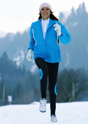 Exercising in cold winter weather is great with some extra precautions. Dressing in layers, protecting your hands and feet, and paying attention to the forecast can help you stay safe and warm.
