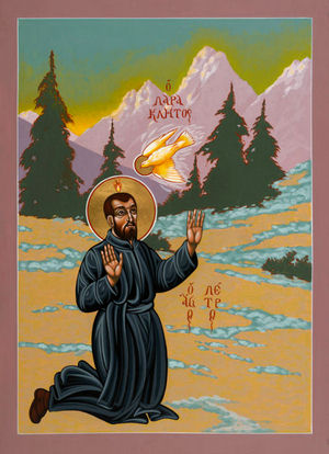 Pierre Favre was the first Jesuit after Ignatius of Loyola. Icon of Pierre Favre by Fr. William McNichols