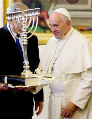 Israeli Prime Minister Benjamin Netanyahu talked with Pope Francis about the Iranian nuclear program, according to the Israeli government.