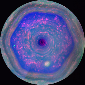 This strangely-shaped storm was first detected on Saturn in 1981 and has raged ever since.