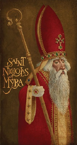 St. Nicholas is the patron saint of children, Russia, Greece, Sicily, sailors, prisoners, bakers, and pawnbrokers.