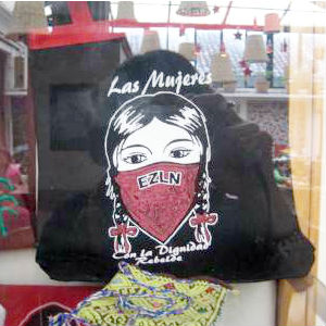Revolutionary souvenirs of the Zapatistas, sold in the the more populated outposts are ironic for a movement that rejects capitalism.