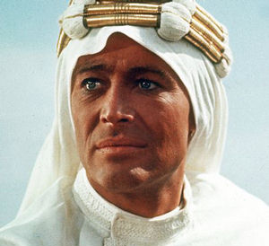 Actor peter O'Toole's greatest screen triumph was as T. E. Lawrence in 'Lawrence of Arabia' David Lean's wide-screen, almost-four-hour homage to the daring British soldier and adventurer who led an Arab rebellion against the Turks in the Middle East in World War I.