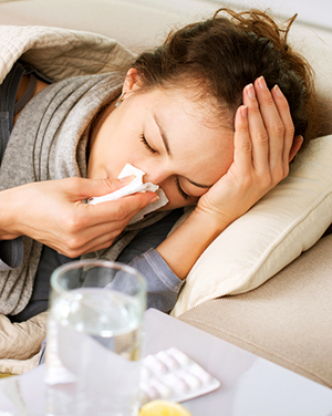 Influenza, or flu, is a respiratory illness that is caused by a virus. Flu is highly contagious and is usually spread by the coughs and sneezes of a person who is infected.