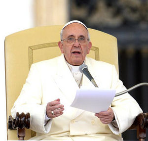Pope Francis is preaching to all Catholics around the world, asking them to be the ones to end world hunger.