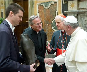 Meeting with a delegation from the University of Notre Dame, Pope Francis said that Catholic universities 'by their very nature, are committed to demonstrating the harmony of faith and reason and the relevance of the Christian message for a full and authentically human life,'