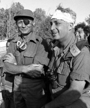 A photo depicting Arial Sharon with a bandaged head during the 1973 Yom Kippur War near the Suez Canal became an iconic image in Israel.