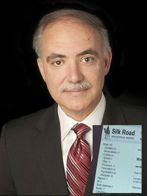 Robert Faiella, the man behind the Silk Road Web site. Inset: What Silk Road sold online.