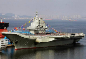 China's first aircraft carrier, the Liaoning.
