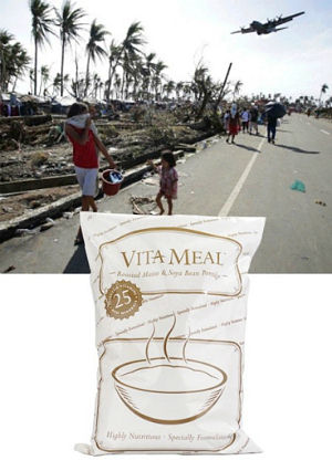 Catholic Online is sending VitaMeal packs to the Philippines. The food does not spoil. The packages are easy to handle and ship. Thousands of people are already eating VitaMeal in the Philippines following Typhoon Hiyan/Yolanda.