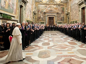 Pope addresses the diplomatic corps