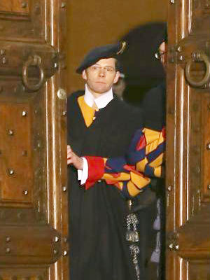 A former Swiss Guard member claims that the all-male environment of the Roman Curia was a 'like a magnet' for gay men.