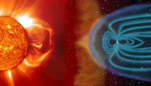 A geomagnetic storm will trigger displays of aurora and could pose a danger to astronauts, satellites, airline communications, and some electrical systems on Earth.