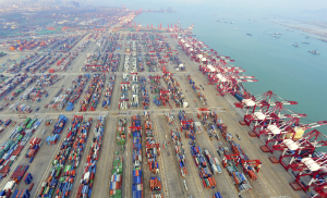 Chinese trade ports are massive affairs, stretching for miles. Many are newly constructed and specifically designed for high volume operations.