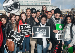 Millions of youth in the country also support pro life efforts.