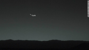Earth, visible from the surface of Mars.