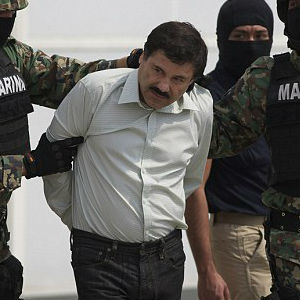 Fifty-six-year-old Joaquin Guzman was then marched outside and taken by helicopter to a maximum-security prison in Almoloya de Juarez, outside Mexico City. It's unclear whether Guzman will be tried in the U.S. or Mexico.