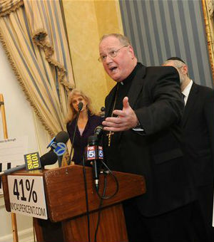New York Catholic Archbishop Timothy Dolan at a a press conference in New York on Jan. 6, 2011.