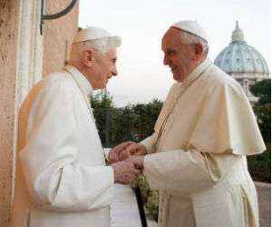 Father Lombardi said the Pope and the retired pontiff have shown the world that there would be no irregularities with one pope at the helm of the church and another retired.
