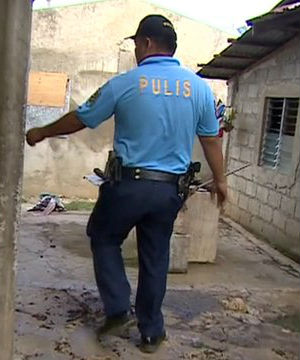 One of the raids saw dozens of Filipino police and social workers break into the bungalow next to the day care center in September of last year. A couple was arrested and three children, aged three, nine and 11 were rescued.