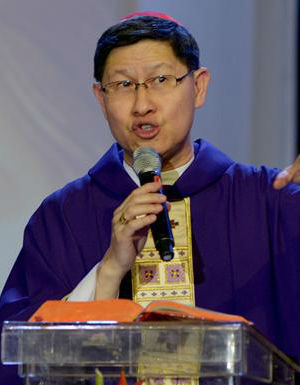 Cardinal Tagle of Manila says it is hypocritical of Catholics to engage in 'religious activities' such as fasting and doing charitable acts in order to benefit oneself.