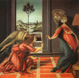 The Annunciation - This holy exchange - our life for His- is the essence of the Christian life. It is not about power but powerlessness. It is not about increase but decrease. It is not about becoming greater but about becoming smaller. In short, true Christian spirituality is about surrendered love.