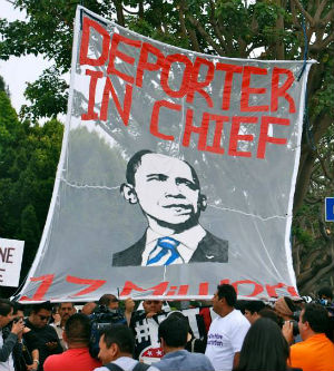 U.S. President Barack Obama, a supposed ally of minorities, has become to the Latino community, 'the deporter-in-chief.'