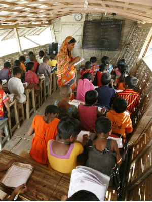 According to a recent UNICEF study released in January, a total of 27 million children between the ages 5 to 13 do not attend school in Bangladesh, India, Pakistan and Sri Lanka. In Bangladesh, 5.6 million children are not in school.