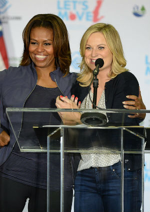 It won't be the first time Ms. Obama and Poehler have met. Both appeared at Mrs. Obama's campaign last month when she appeared at a Let's Move event in Miami.