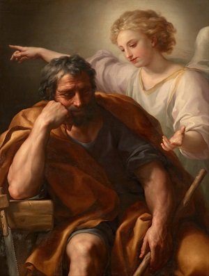 St. Joseph is our teacher and shows us the way to love and follow Jesus Christ. he shows us how to be faithful husbands, fathers and servants of the Lord. Joseph is a true 'man's man' calling all men to follow Jesus.