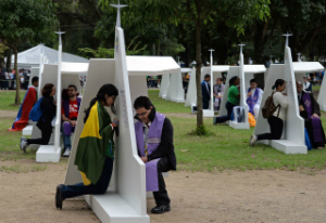 Confession was widely available at World Youth Day celebrations with Pope Francis himself hearing confessions.