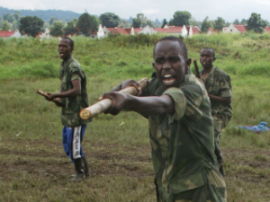 Congolese rebels train for their inevitable clashes.