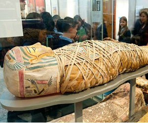 One female mummy, aged between 20 and 35 and found in Sudan in 2005, sported a tattoo on her right leg.